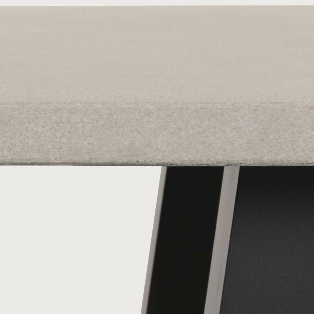 Capri GRC Outdoor Dining Table - W180, Gunmetal