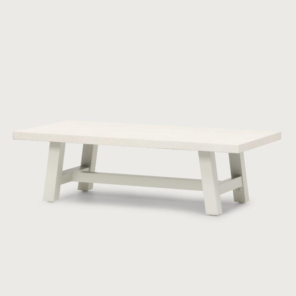 Capri Outdoor Coffee Table, White