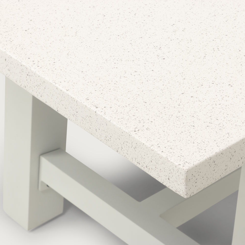 Capri GRC Outdoor Low Dining Table - W170, White