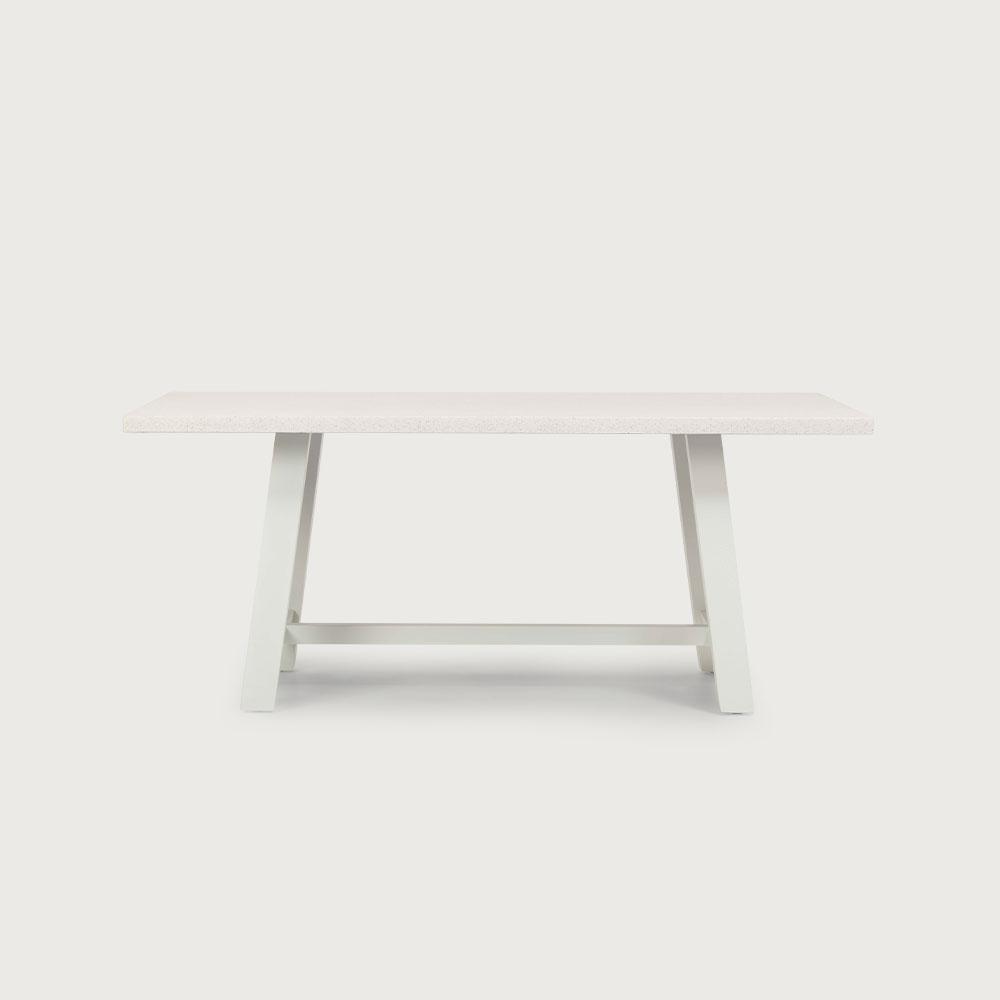 Capri GRC Outdoor Dining Table - W180, White