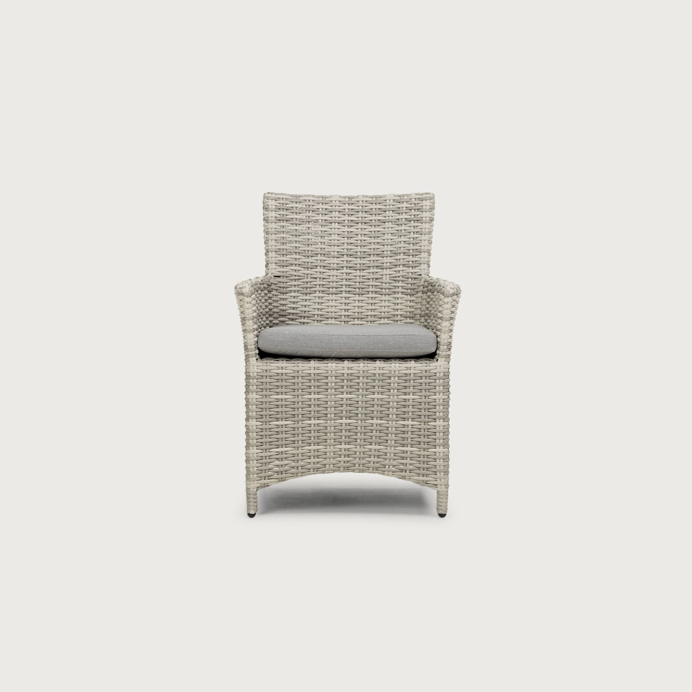 Capri Outdoor Dining Chair, White