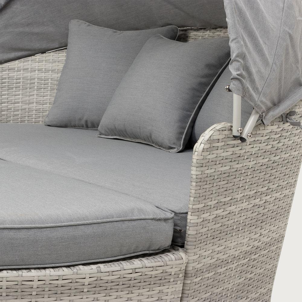 Capri Outdoor Daybed - White, White