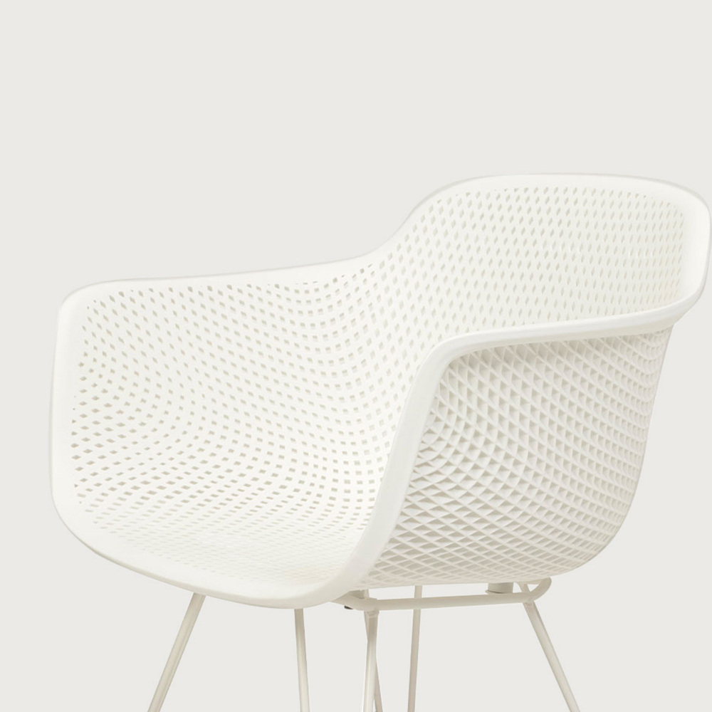 Lavender Outdoor Dining Chair, White