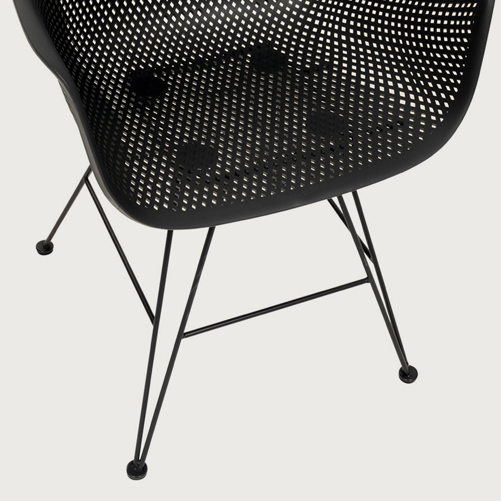 Lavender Outdoor Dining Chair, Charcoal