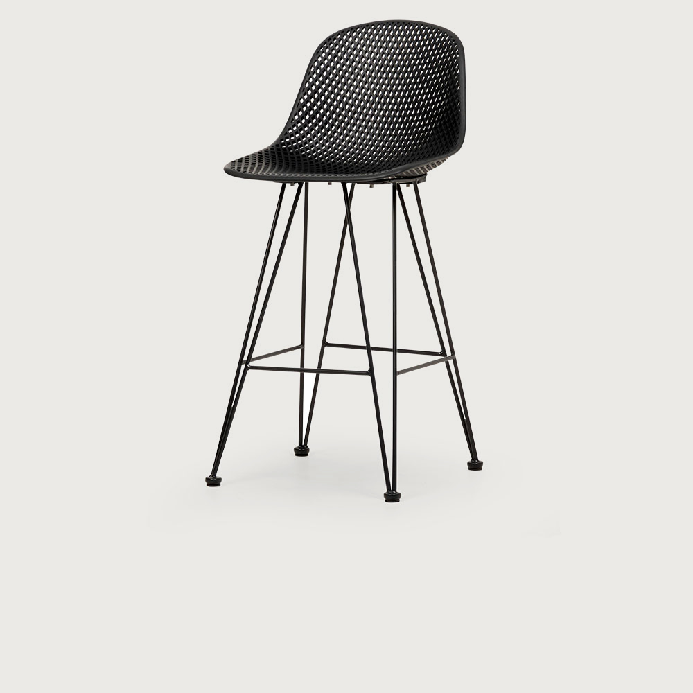 Lavender Outdoor Barstool, Charcoal
