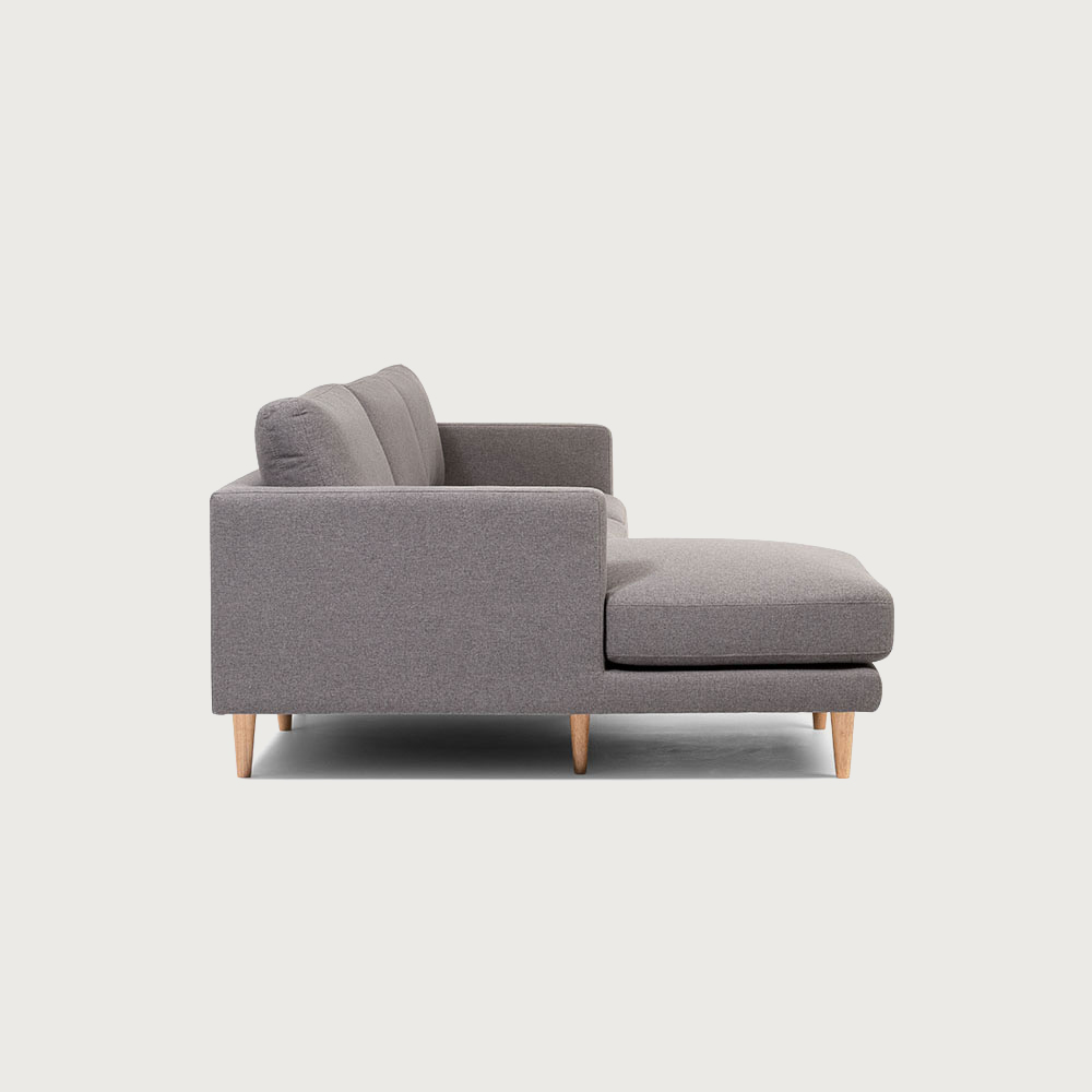 Riley Left Hand Side Chaise Sofa, Grey
