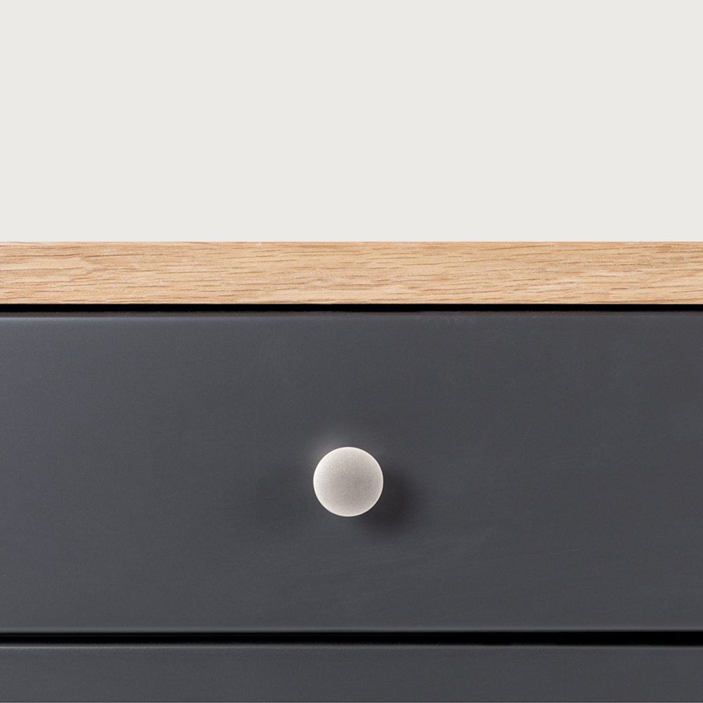 Duvall 2 Drawer Bedside, Grey