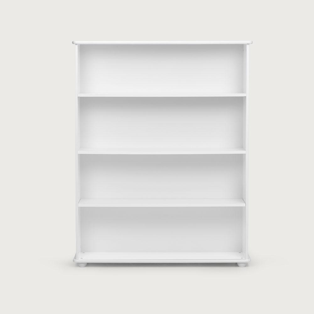 Carnival Wide Bookcase, White