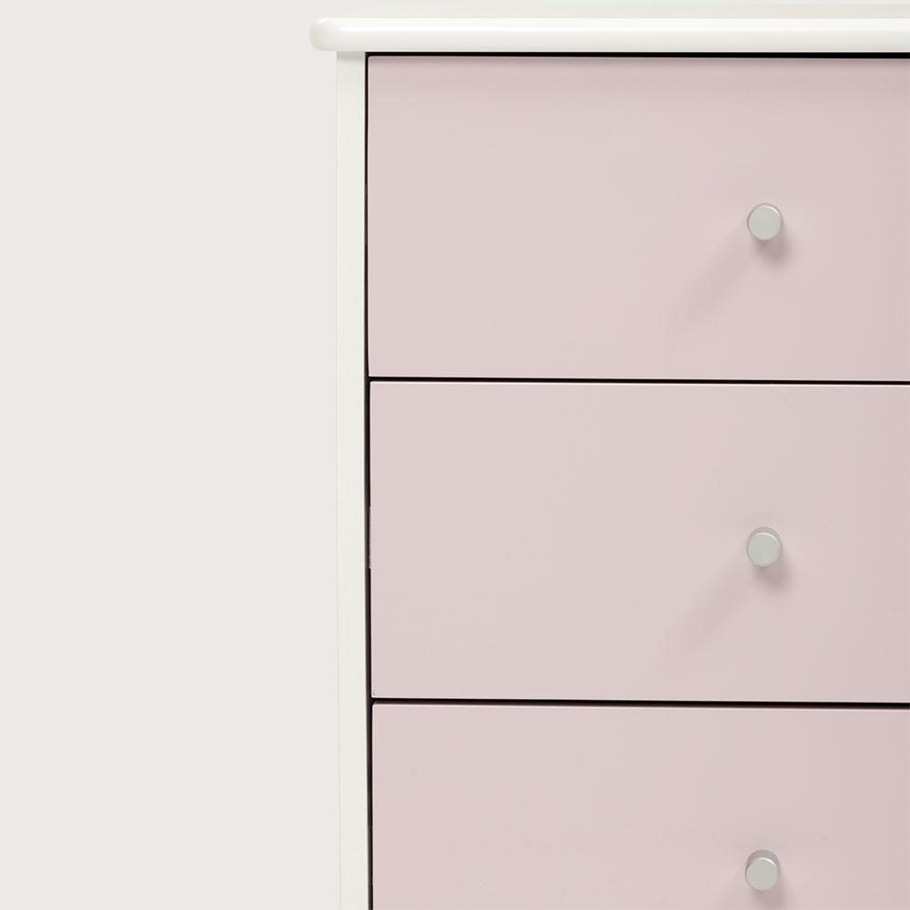 Carnival 3 Drawer Bedside, Light Pink