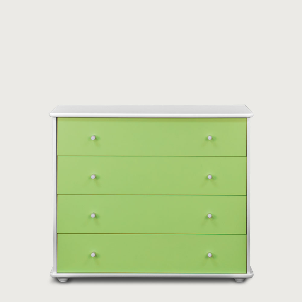 Carnival 4 Drawer Chest, Green