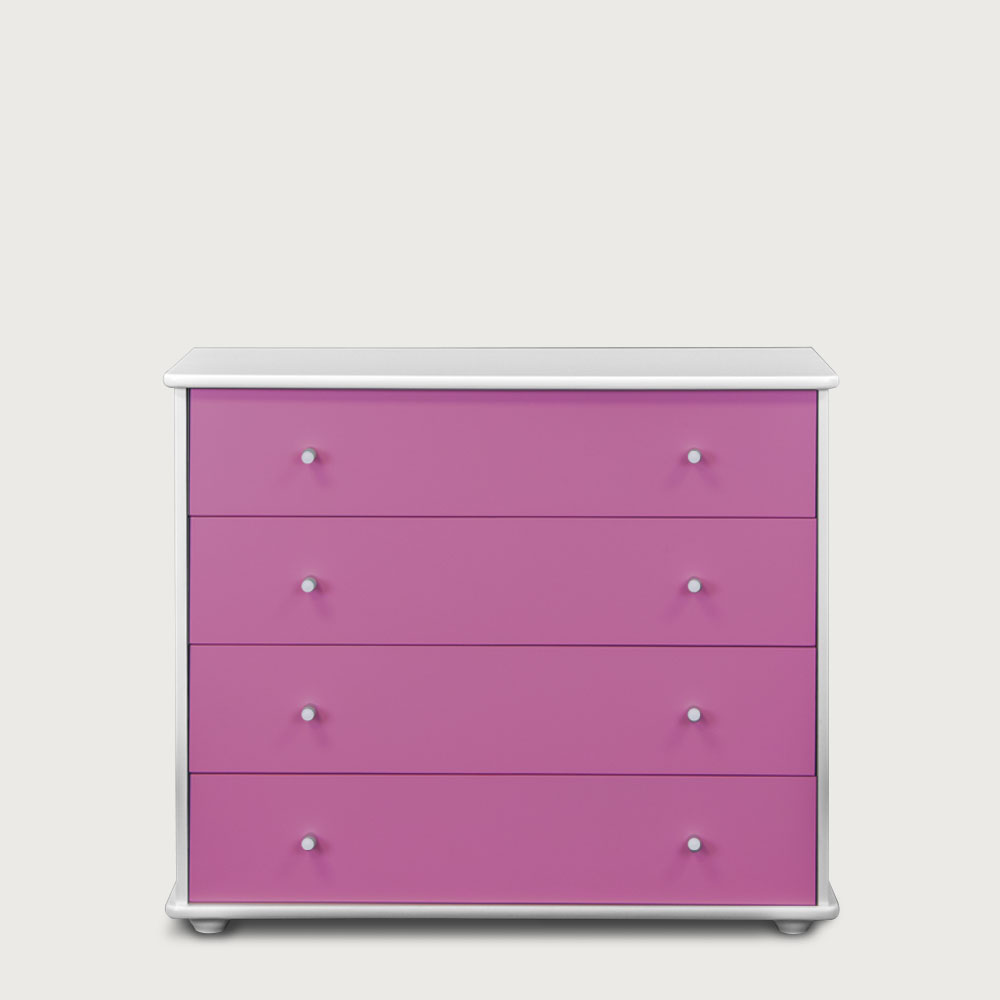 Carnival 4 Drawer Chest, Purple