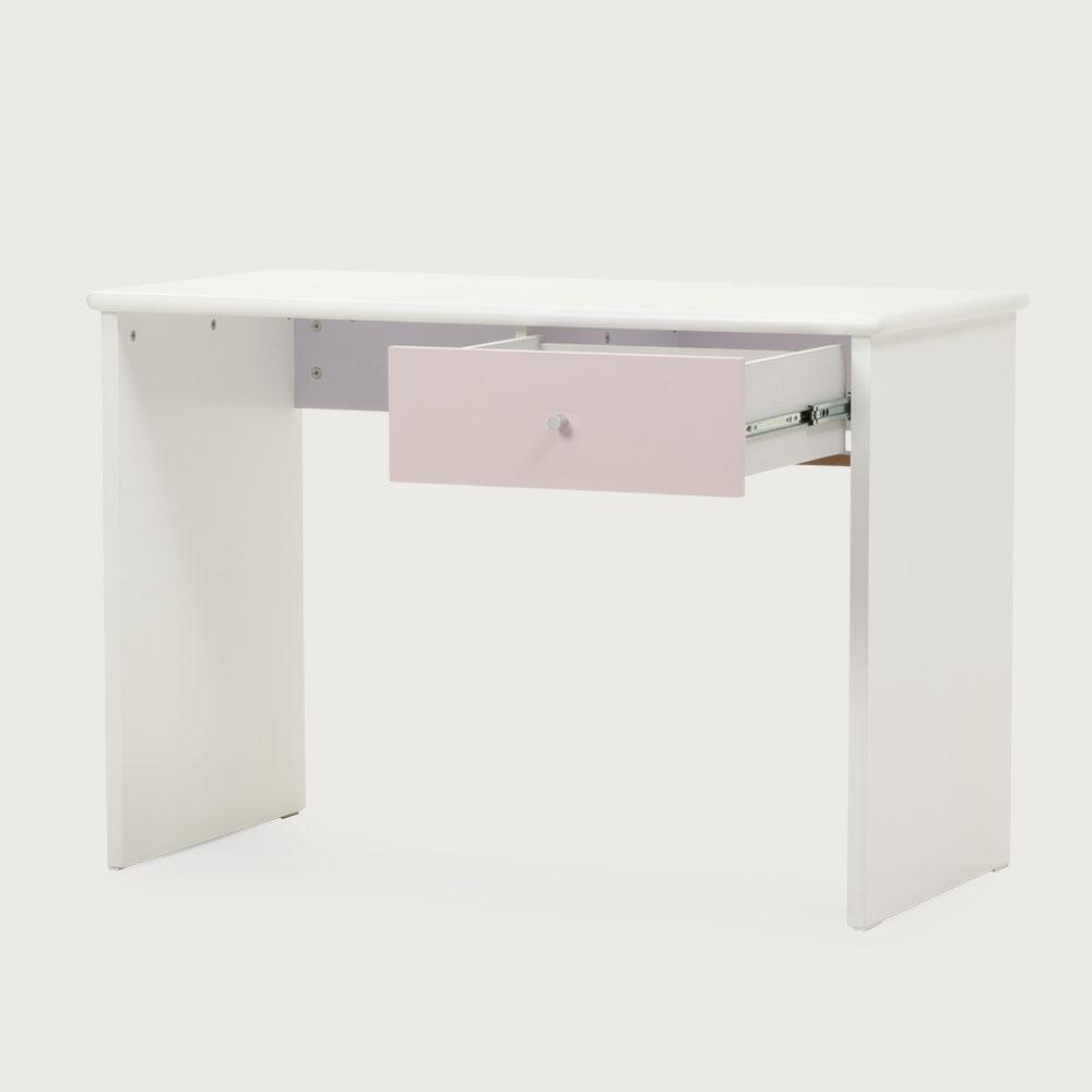 Carnival 1 Drawer Desk, Light Pink