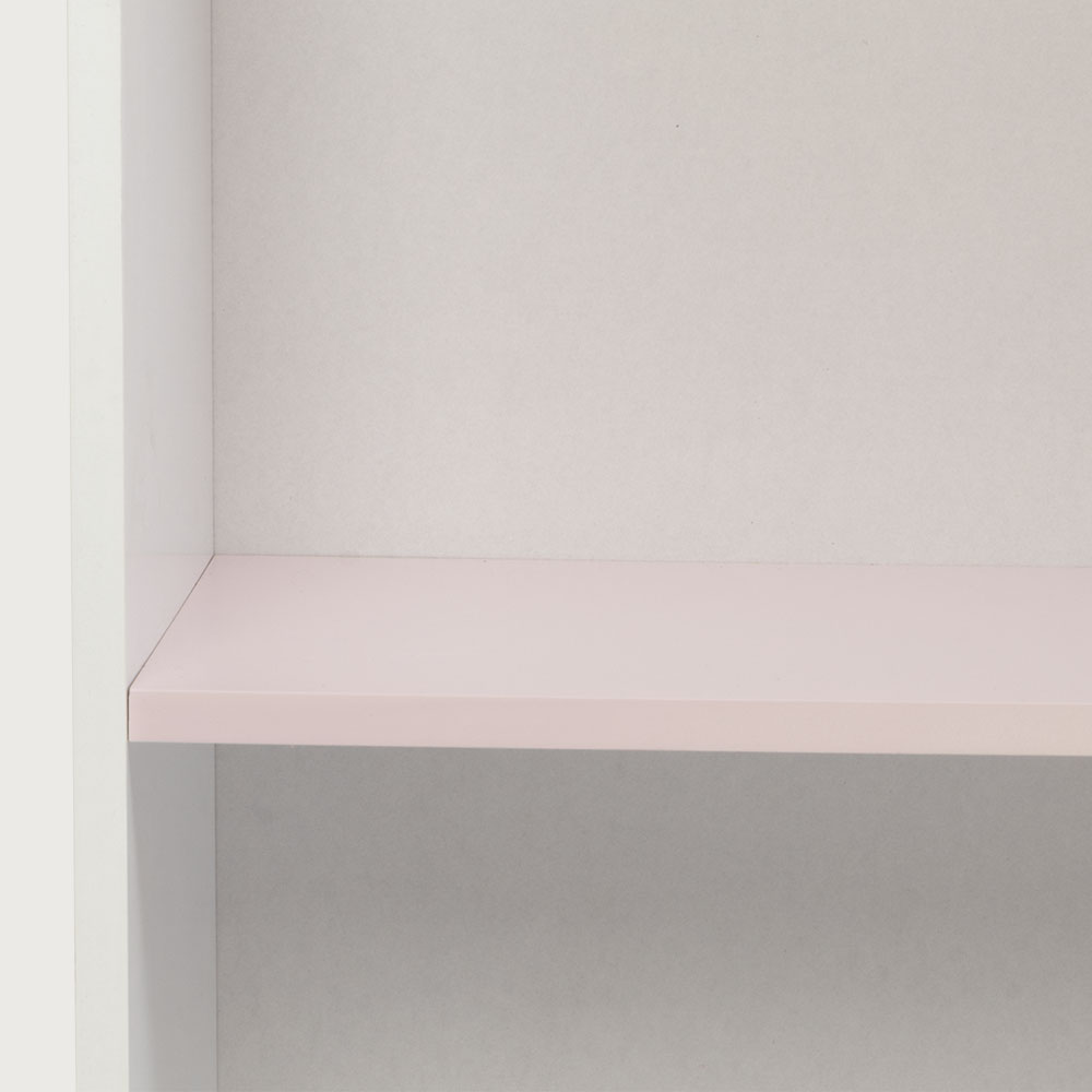 Carnival 1 Shelf Bookcase, Light Pink