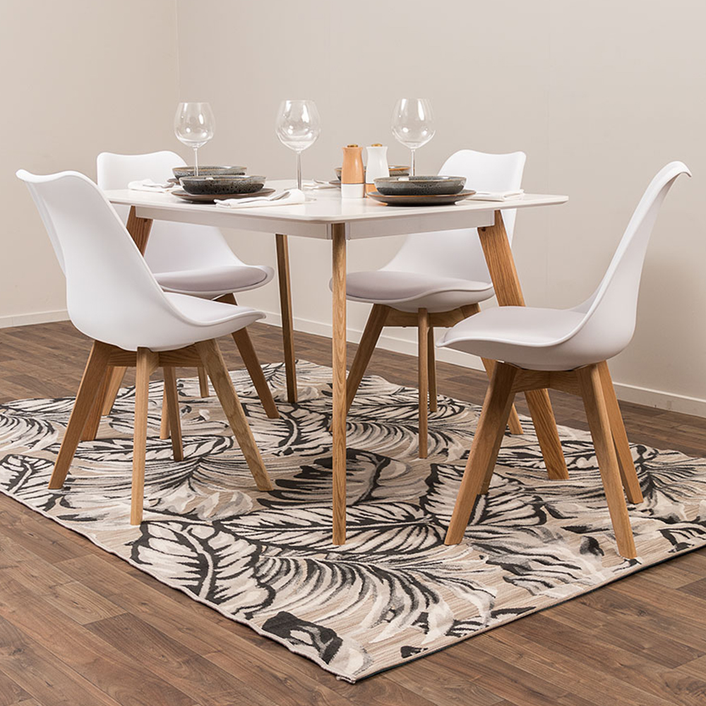Carson 5 Piece Dining Setting - W120, White
