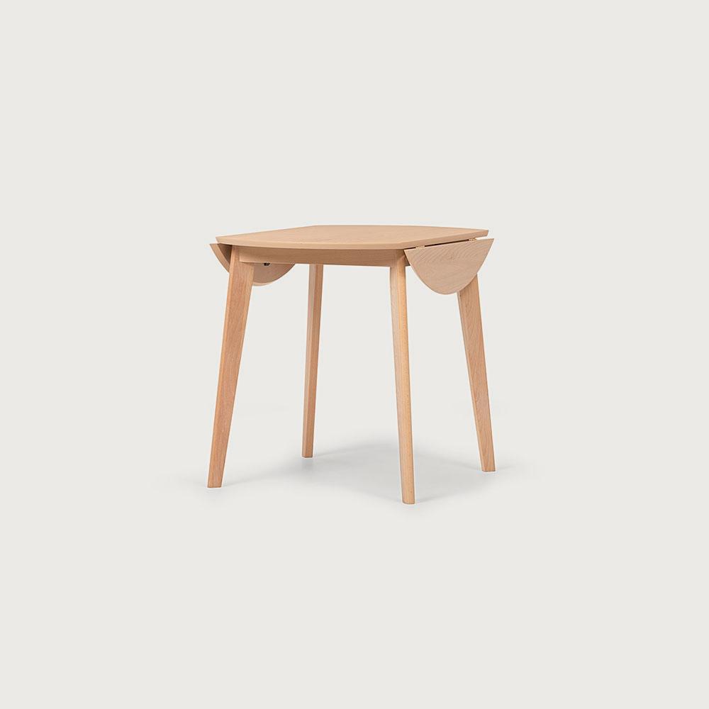 Veno Drop Leaf Round Dining Table - W60/90
