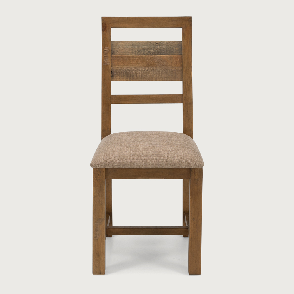 Forged Dining Chair With Cushioned Seat