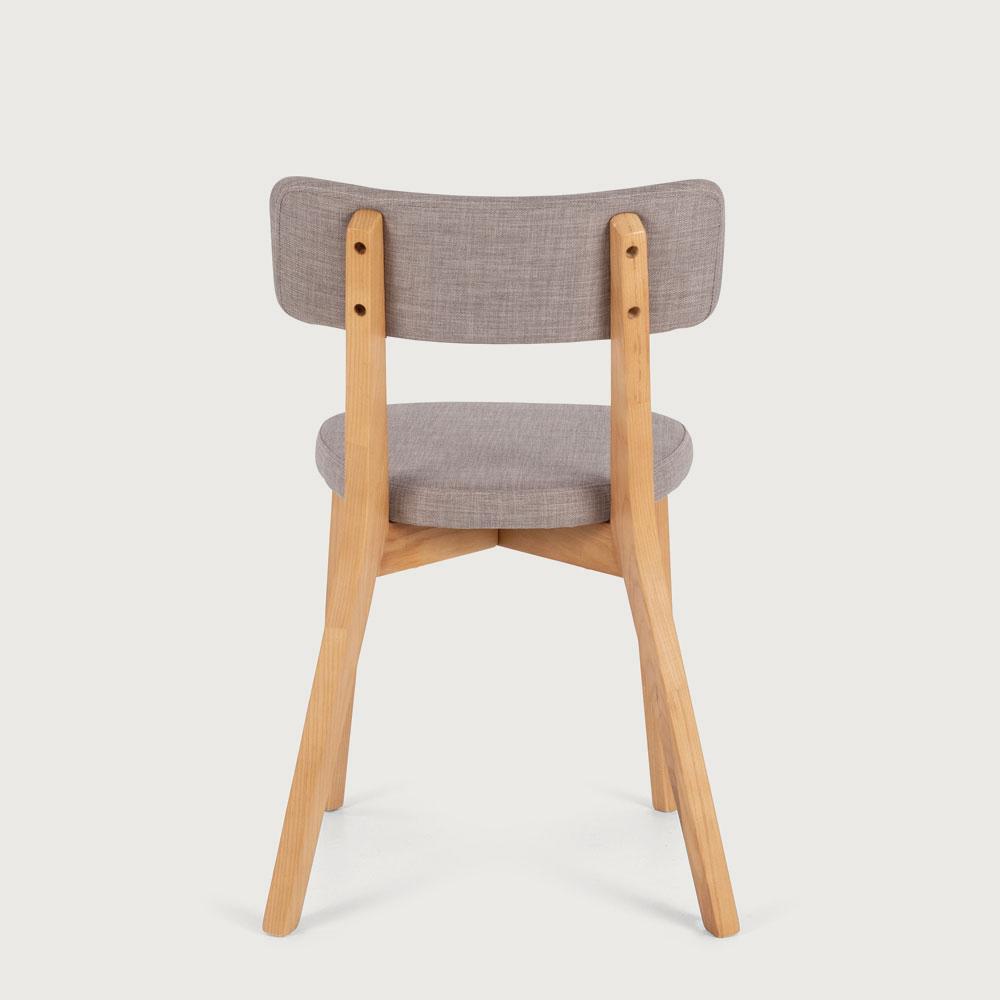 Duvall Fabric Dining Chair, Light Grey