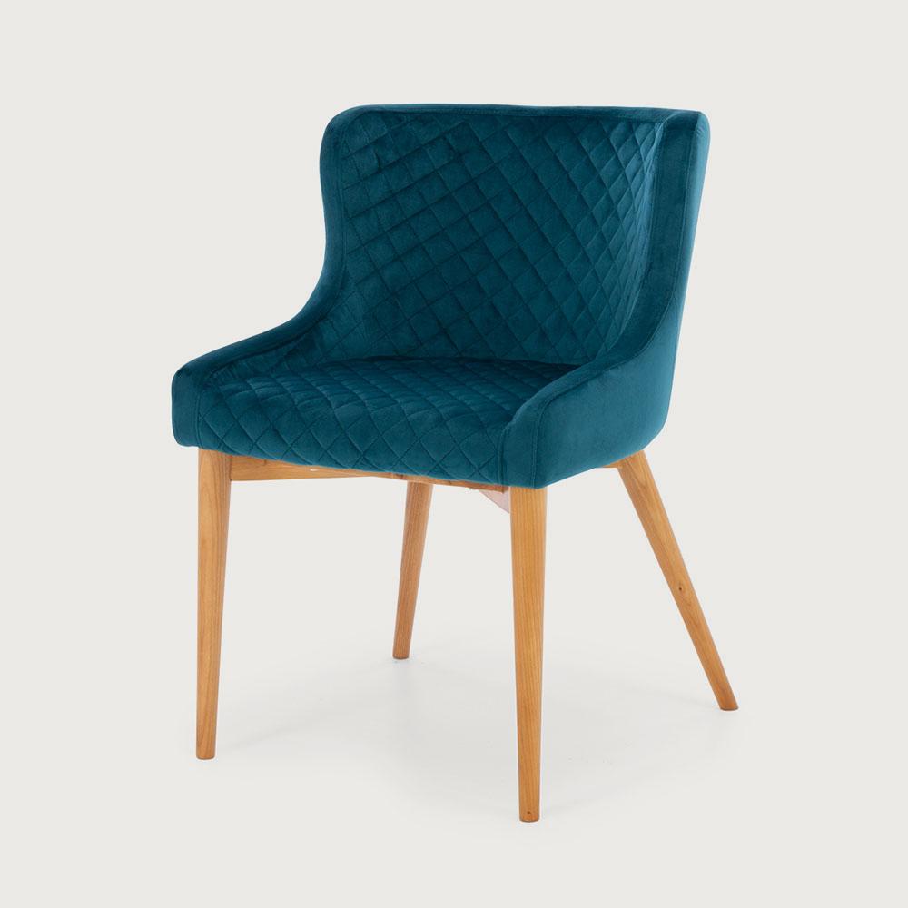 Cady Velvet Dining Chair, Teal