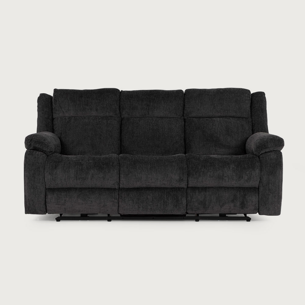 Whitby 3 Seater Electric Recliner, Charcoal