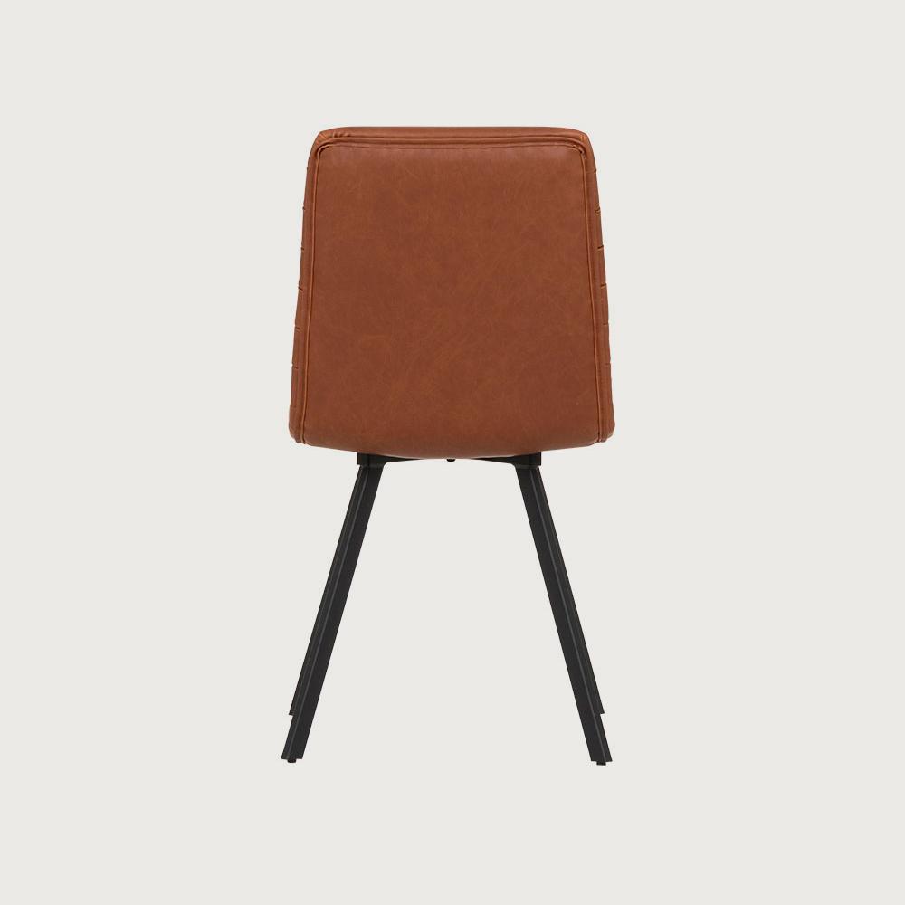 Watson PU Dining Chair, Brandy