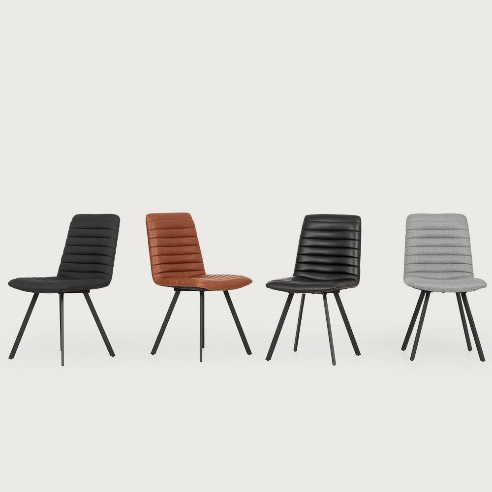 Watson PU Dining Chair, Black