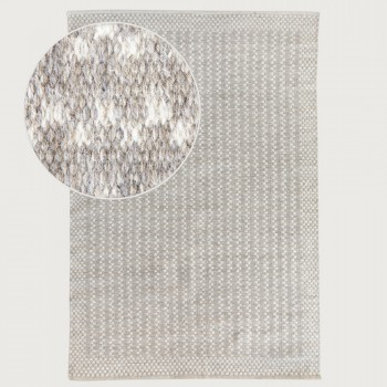 Signature Rugs Wallace Rug - 60 x 110 cm, Grey/White