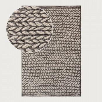 Signature Rugs Devonport Floor Rug - 190 x 290 cm, Braid Black