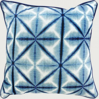 Limon Reflection Cushion - Poly Inner, Blue/White