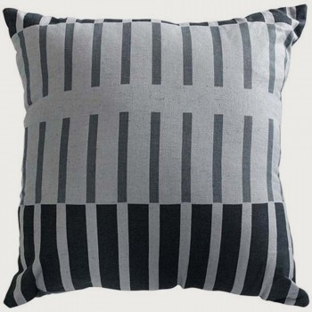 Limon Montreux Cushion - Poly Inner, Charcoal/Red
