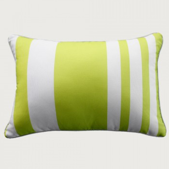 Limon  River Stripe Outdoor Cushion - Poly Inner , Lime