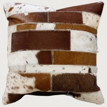 Limon Paulo Cushion - Poly Inner, Brown/White
