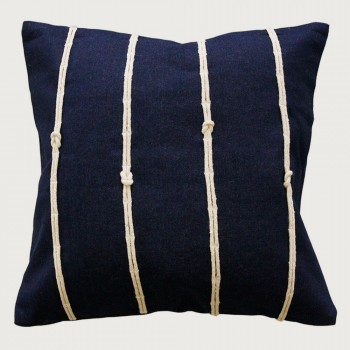 Limon Reef Knot Cushion - Poly Inner, Navy
