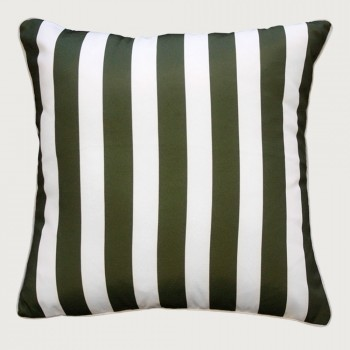 Limon Branch Stripe Outdoor Cushion - Poly Inner, Spruce Green