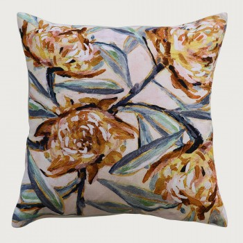 Limon  Zoey Cushion - Feather Inner, Fawn/Multi