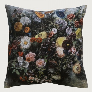 Limon  Evelyn Cushion - Feather Inner, Charcoal/Multi