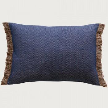 Limon  Ethan Cushion - Feather Inner, Blue