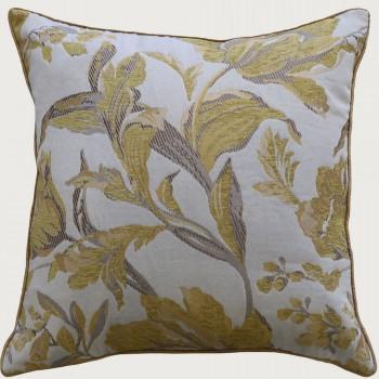 Limon  Sadie Cushion - Poly Inner, Cream/Yellow