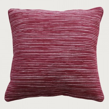 Limon Rakaia Cushion - Feather Inner, Port Red