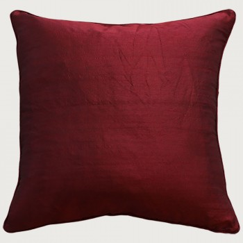 Limon Essence Cushion - Feather Inner, Deep Red