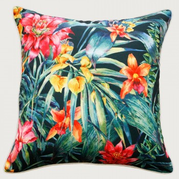 Limon Jungle Flowers Outdoor Cushion - Poly Inner, Multi