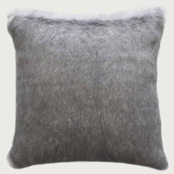 Limon Elmwood Faux Fur Cushion - Poly Inner , Iceland Mink