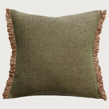 Limon Nathan Cushion - Feather Inner, Olive/Natural