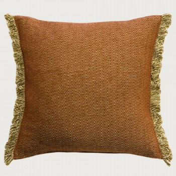 Limon Nathan Cushion - Feather Inner, Spice/Natural