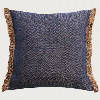 Limon Nathan Cushion - Feather Inner, Navy/Natural