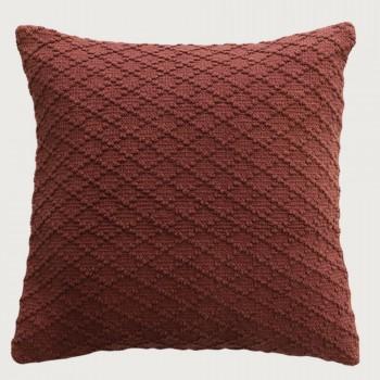 Limon Kapiti Cushion - Feather Inner , Rust