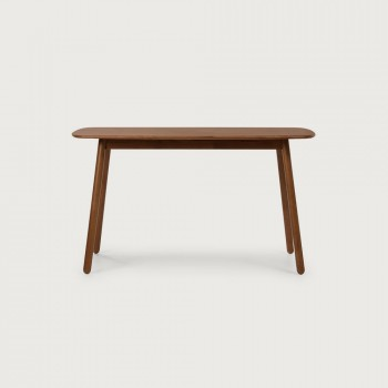 Woodwall Dining Table - W135, Dark