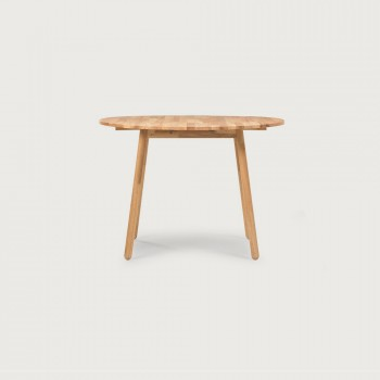 Woodwall Drop Leaf Round Dining Table - W75/105, Light