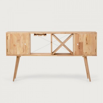 Woodwall Console Table, Light