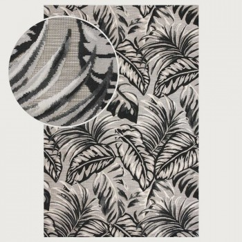 Limon Figuig Outdoor Rug - 160 x 230 cm, Natural/Charcoal