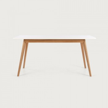 Duvall Dining Table - W160, White